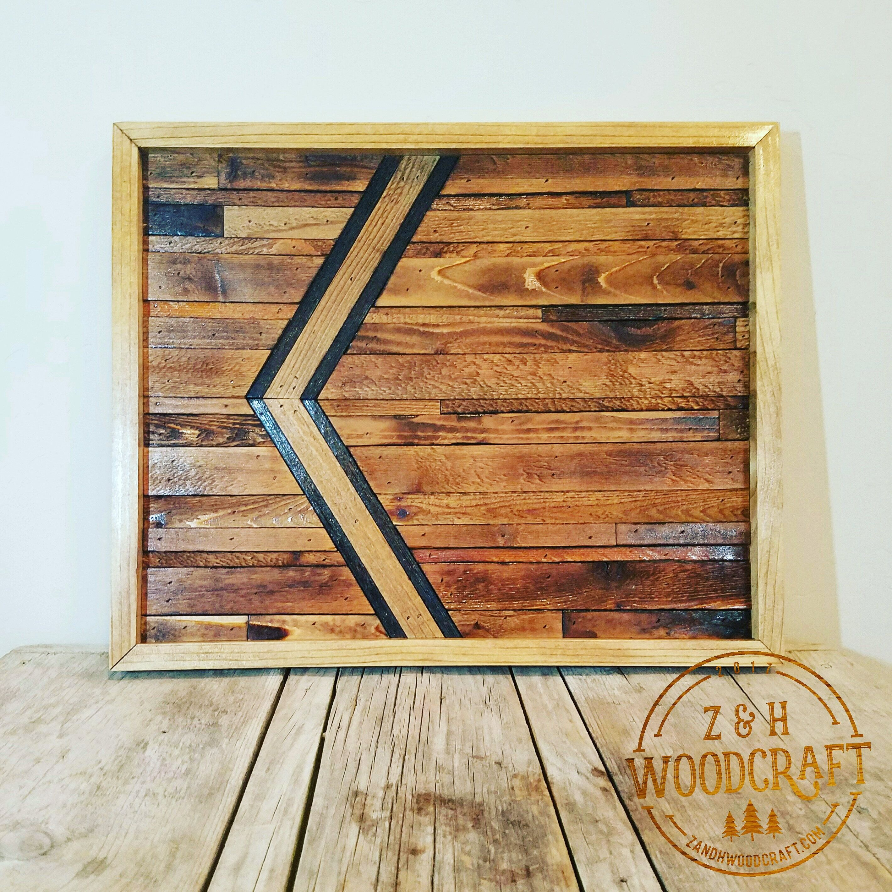 The lone chevron natural home decor rustic reclaimed wood wall