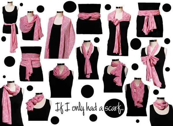 If I had only one scarf... Awesome!