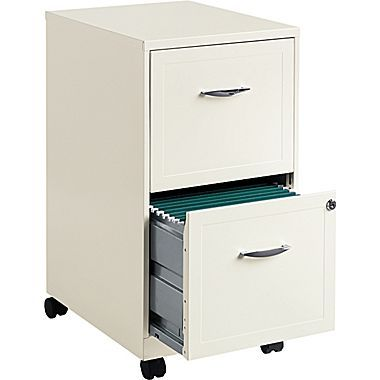 hirsh industries 2 drawer vertical file pearl white letter 14 25w