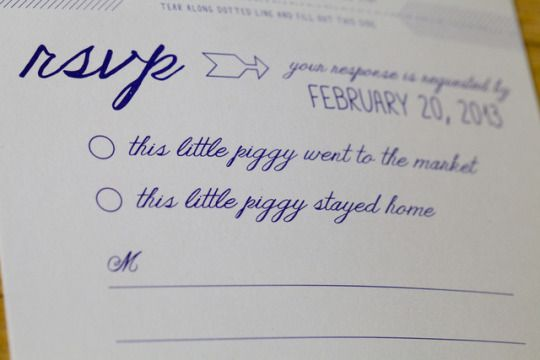 fun RSVP card in today's Reading Terminal Market wedding | langdon photography on ohlovelyday.com
