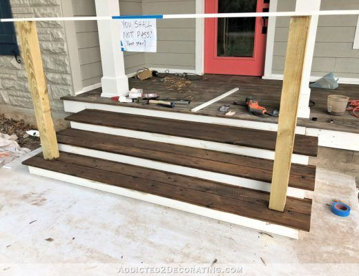 Best Finished Front Porch Floor Wood Front Porch Built Over 640 x 480