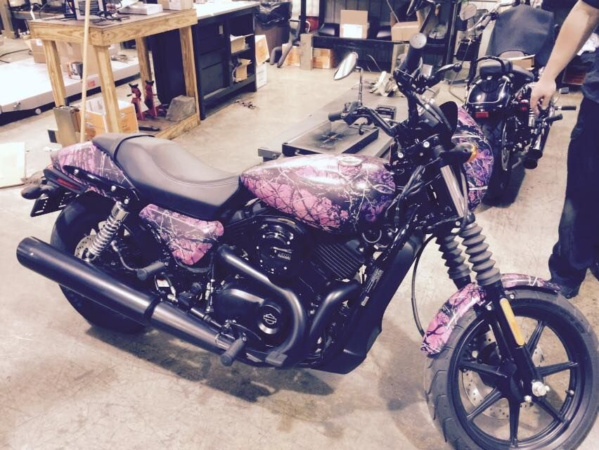 Check out this 2014 HD 500 Street rockin the Muddy Girl Camo!
