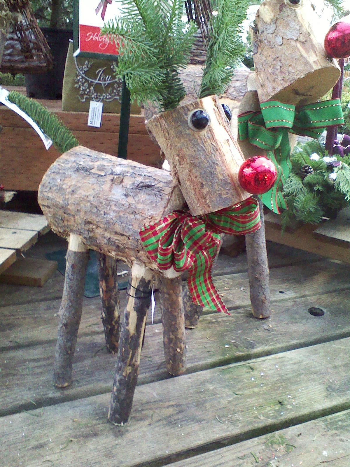 Wooden Deer Christmas hey Pinterest