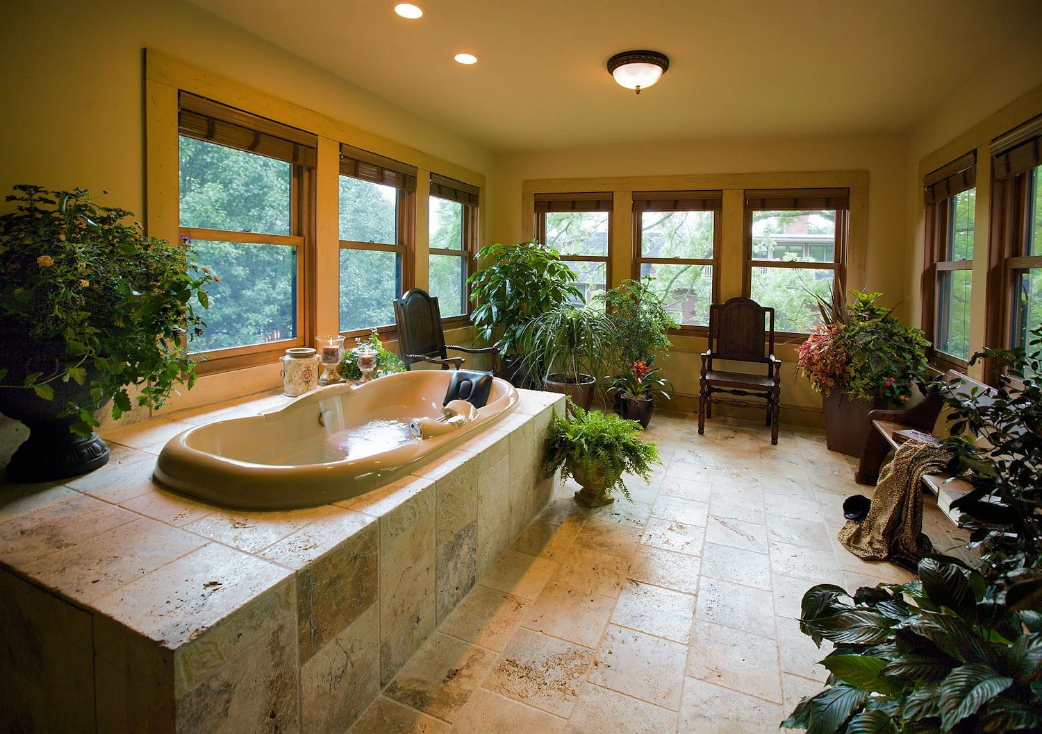 Amazing bathroom with a Sunroom with soaking tub - Asheville Bed and ...