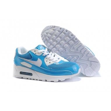 Nike Air Max 90 Womens White Shoes Wholesale Azure   One day