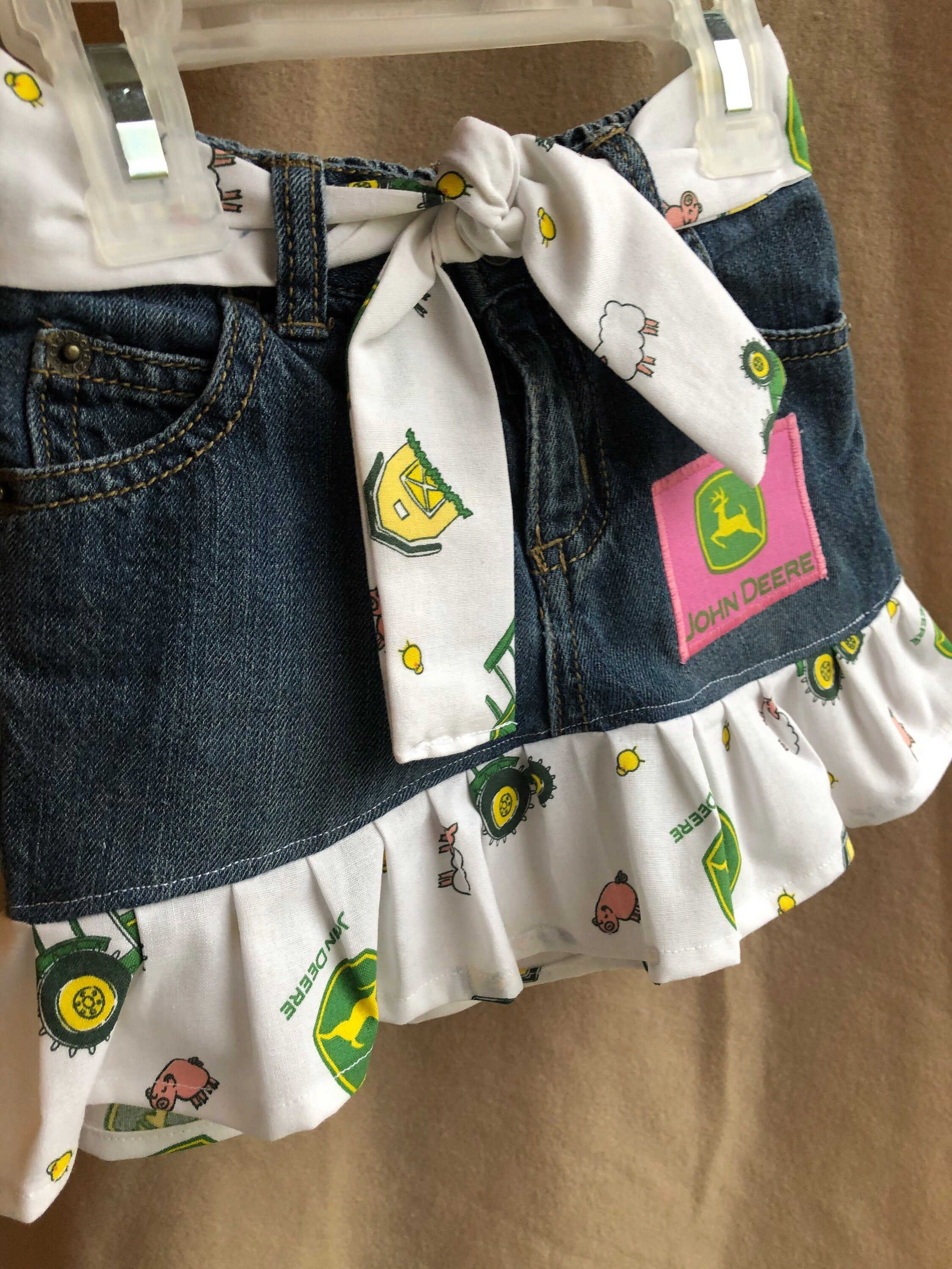 Baby Girls John Deere outfit Ruffle Skirt with by YellowPeanut
