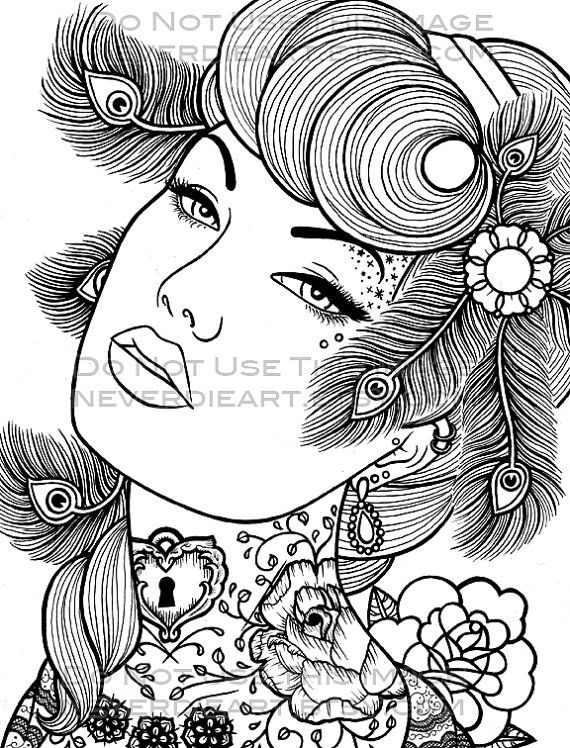 Digital Download Print Your Own Coloring Book Outline Page ...