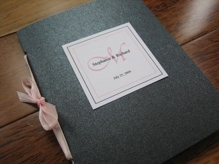 Wedding Program Booklets With Ribbon Closure And Monogram Tag Set Of 25