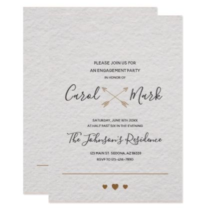 Monogram Simple Typography Engagement Card - script gifts