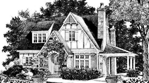 Pictures Of English Tudor Cottages | Storybook Cottage House Plans...Hobbit  Huts To