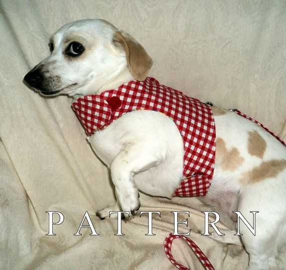 Dachshund Small Dog Harness Sewing Pattern With By Warmweenies