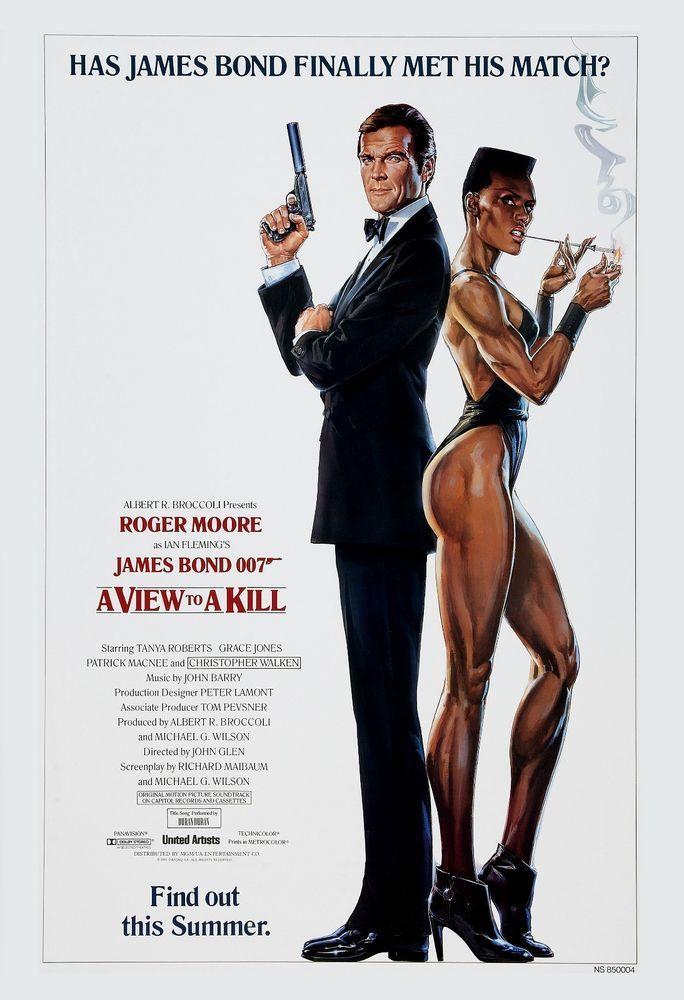 James Bond A View To A Kill Roger Moore Usa Movie Advance