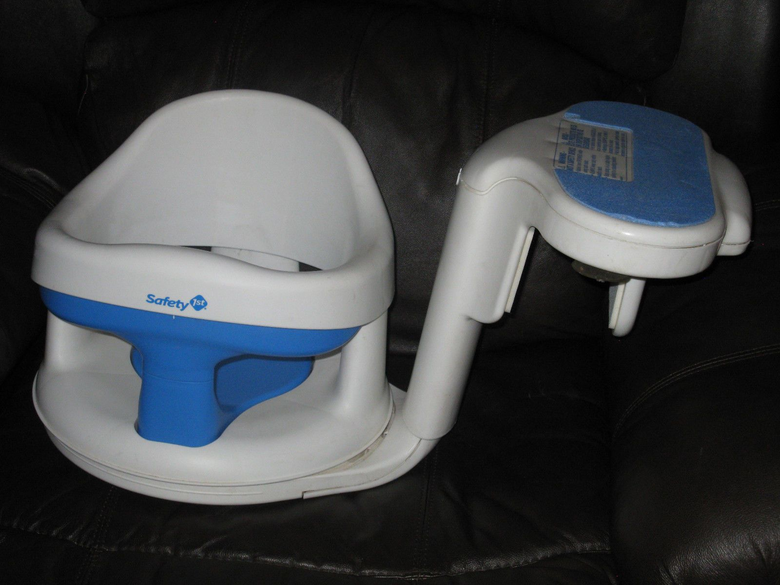 White Safety First 1st Tubside Swivel Baby Bath Tub Seat