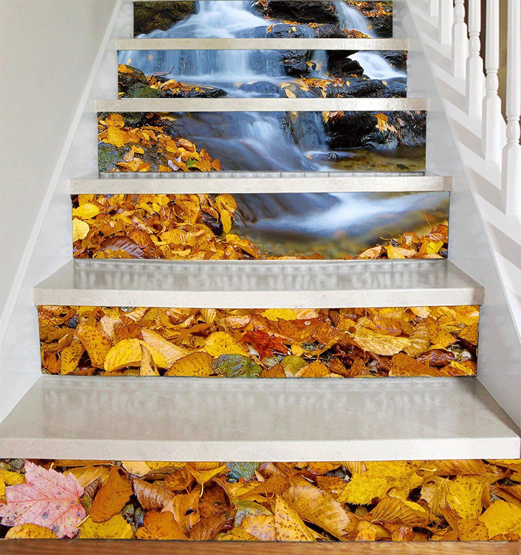 Vinyl Decal Strips for Stair Risers Waterfall on Stairway Peel
