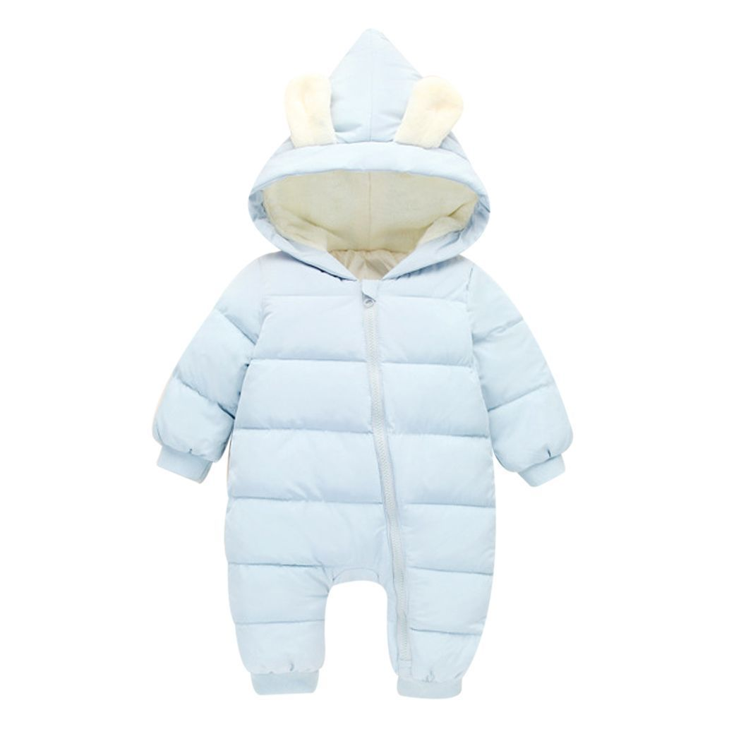 6ab68b768fc2 Newborn Overalls 2018 Spring Winter Warm Baby Girl Boy Snowsuit Down ...