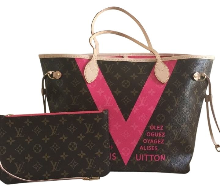 b6c11c846e4f Louis Vuitton V Grenade Tote Bag. Get one of the hottest styles of the  season! The Louis Vuitton V Grenade Tote Bag is a top 10 member favorite on  Tradesy.
