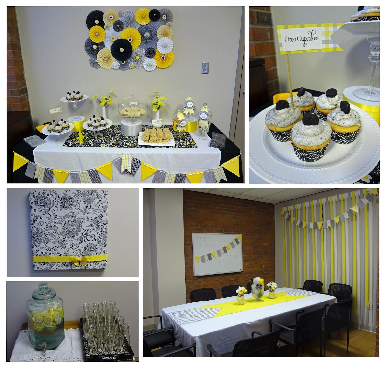 Qute Hoots Black White Yellow And Gray Birthday Party Yellow