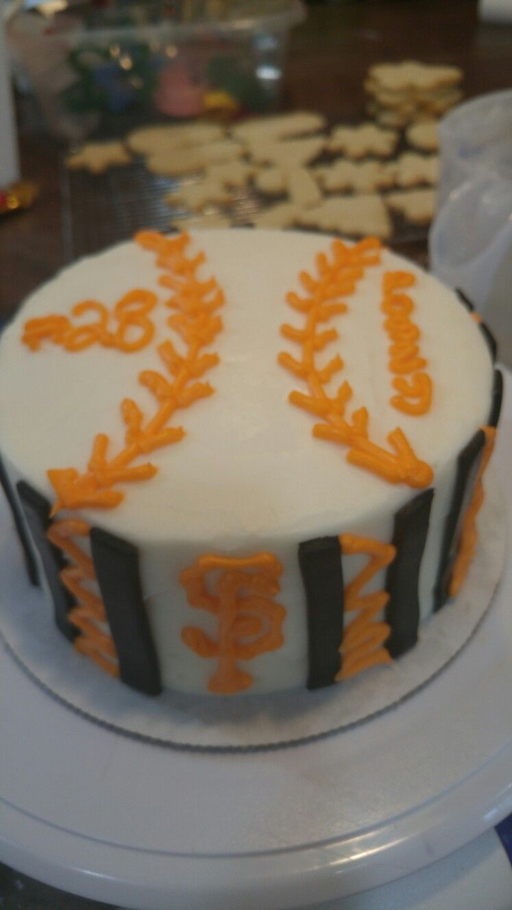 San Francisco Giants Birthday Cake Angelas Bakery Pinterest