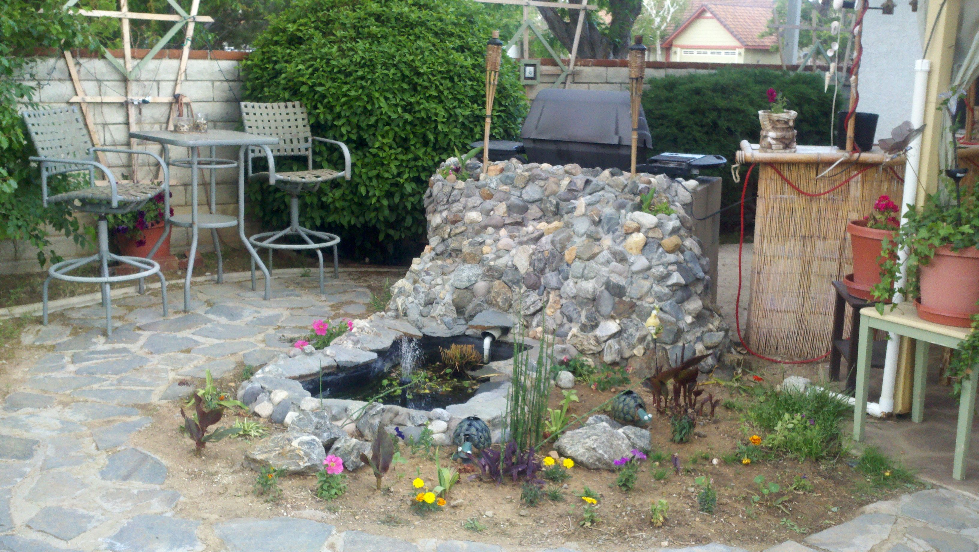 this is our little oasis in a corner of our backyard projects
