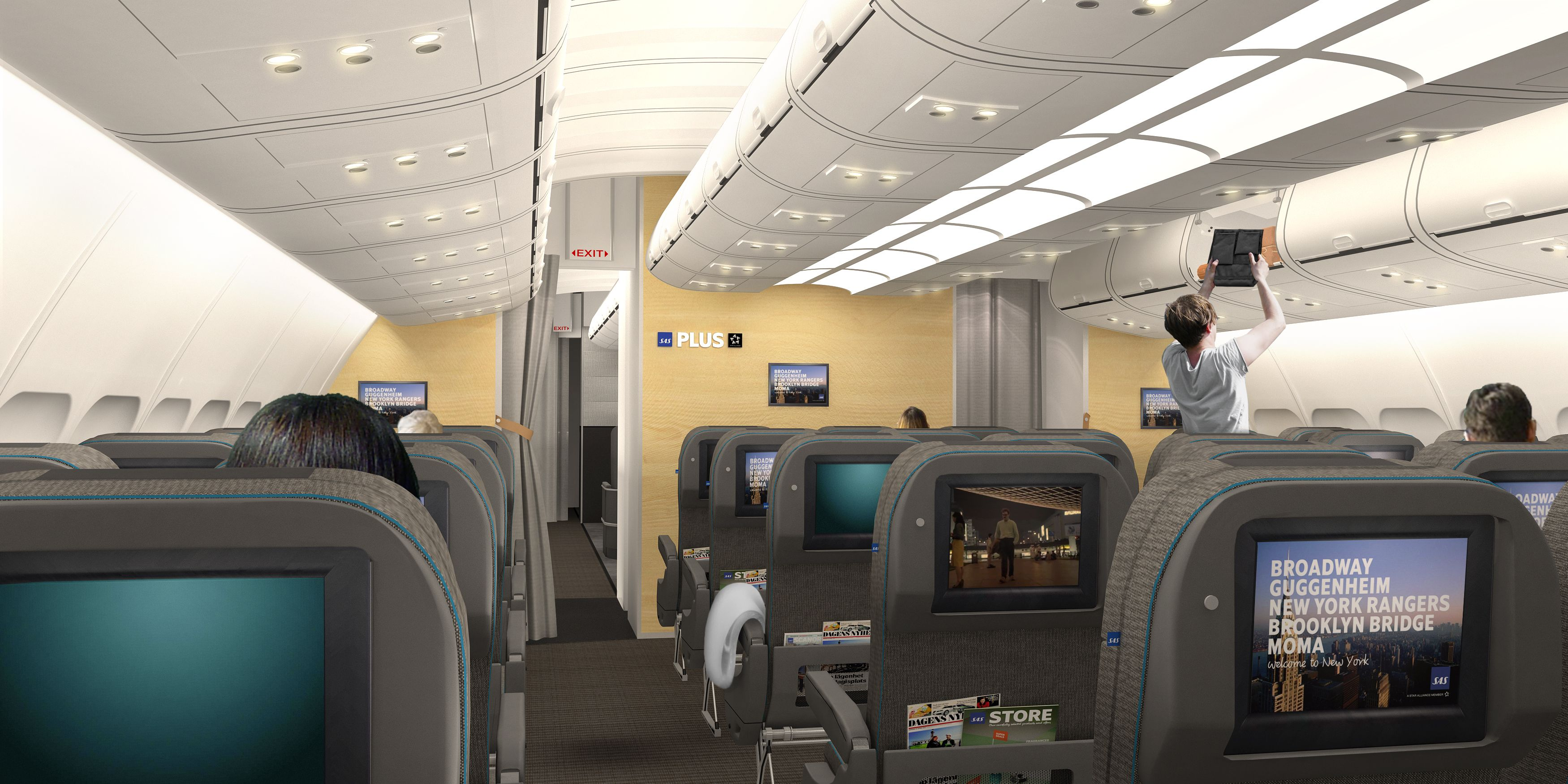 Sas Introduce Brand New Long Haul Interiors Aircraft Interiors Sas Airlines Scandinavian Airlines System