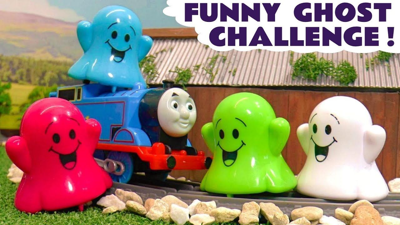 Thomas Friends Toy Trains Ghost Colors Challenge With The Funny Funlin In 2020 Thomas And Friends Funny Ghost Toy Train