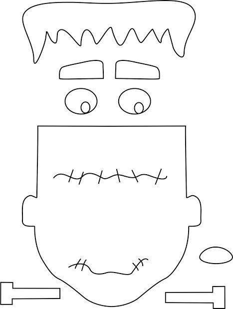 Molde cara Frankenstein … | halloween frankensteins | Pinte…