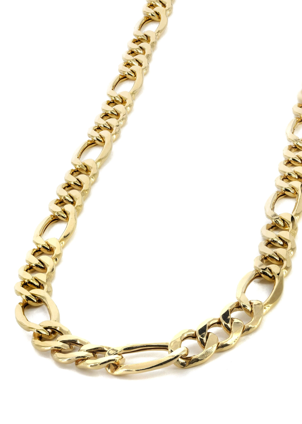 Gold Chain Mens Hollow Figaro Chain 10k Gold In 2021 Gold Chains For Men Mens Gold Jewelry Chains For Men