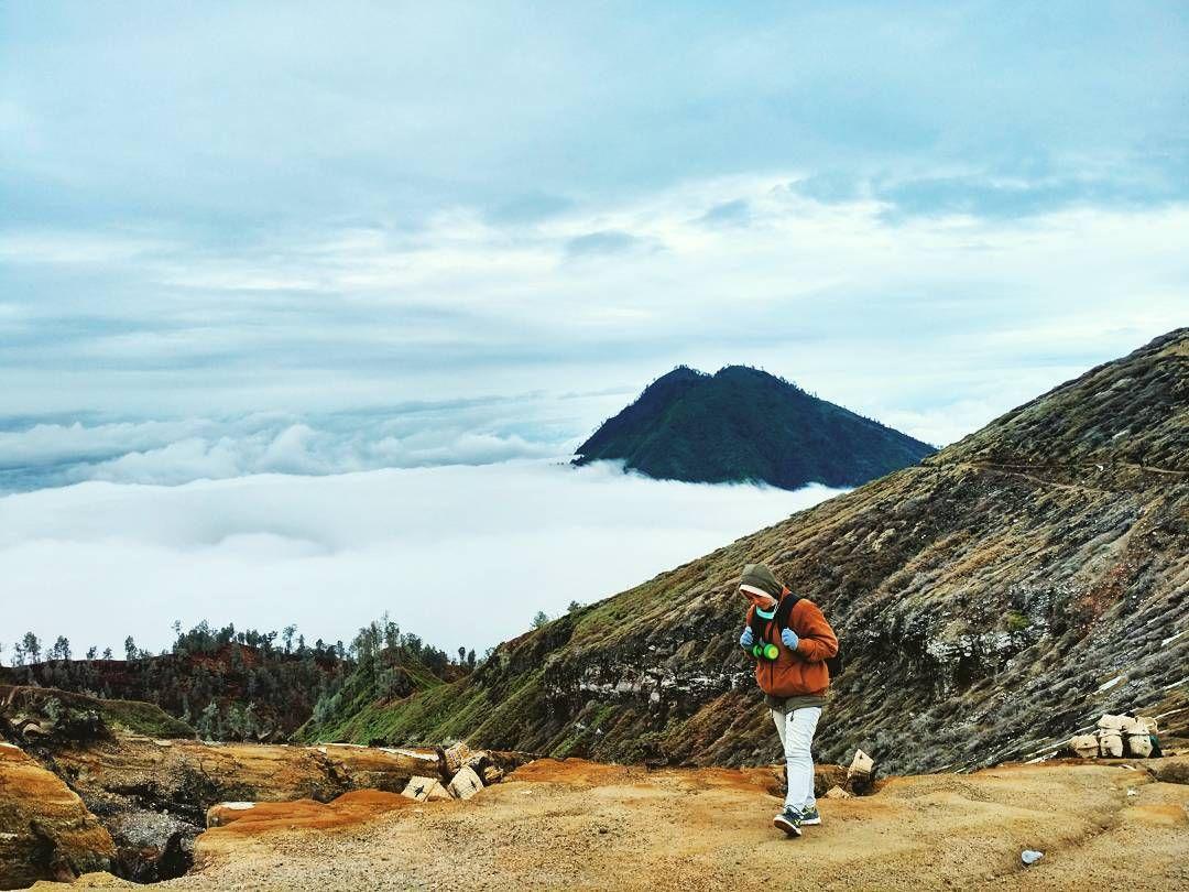 Ijen Banyuwangi Taman Nasional Pemandangan Gunung Merapi