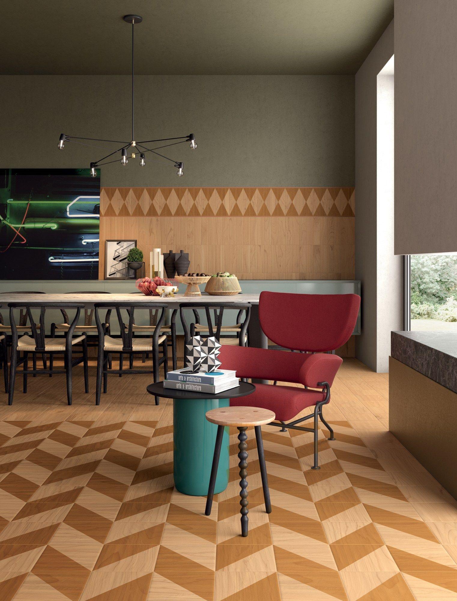 Revestimiento de pared suelo de gres porcel nico imitaci n madera essences by ceramiche marca - Revestimiento de suelos ...