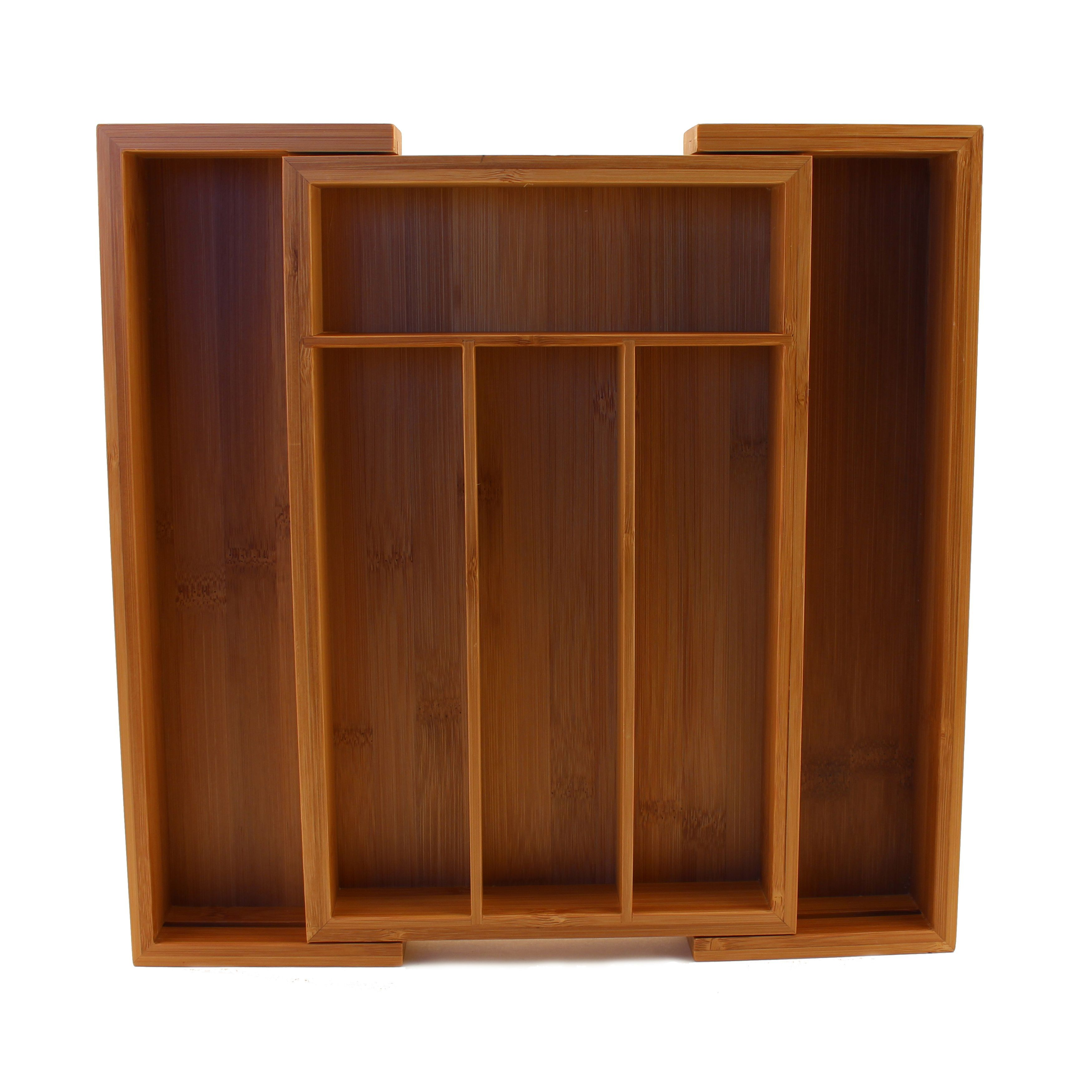 BergHOFF Cook N\' Co 6-slot Expanding Flatware Organizer (Bamboo ...