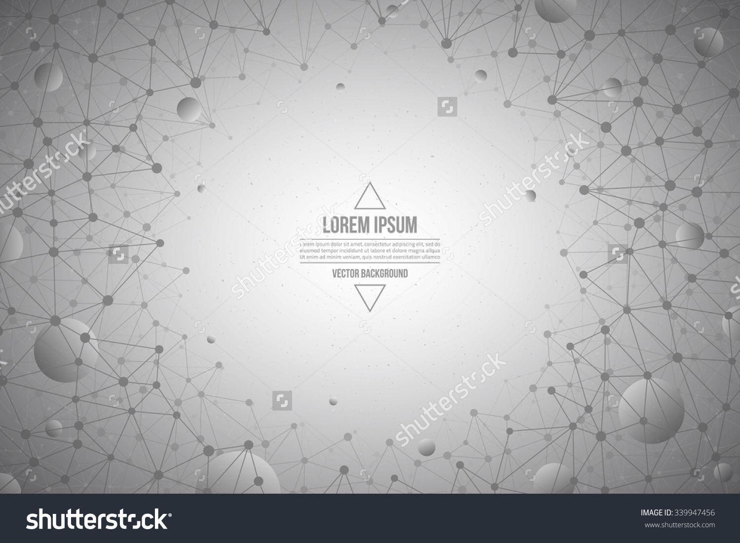 Abstract 3d Vector Technology Gray Background Connection Structure Internet Technology Business Vector Background Science Vector Background Abstract Vector