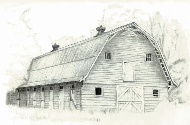 Love old barns | Pencil/Charcoal Art | Pinterest | Old Barns ...