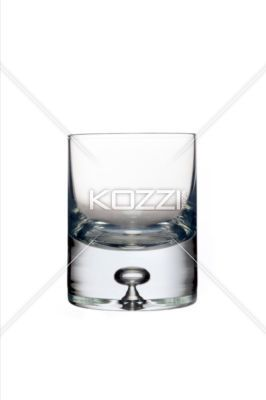tumbler with glass bubble - A tumbler with a bubble in the thick glass base