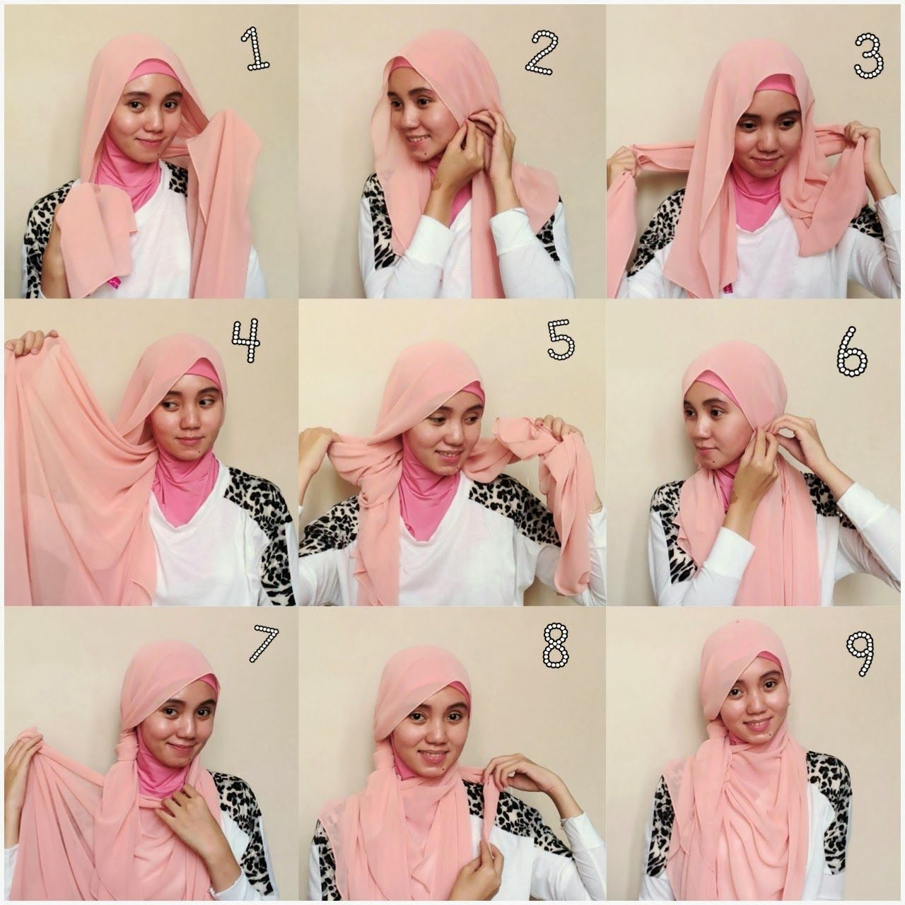 Contoh Tutorial Hijab Contoh Tutorial Hijab Pesta Simple Segi