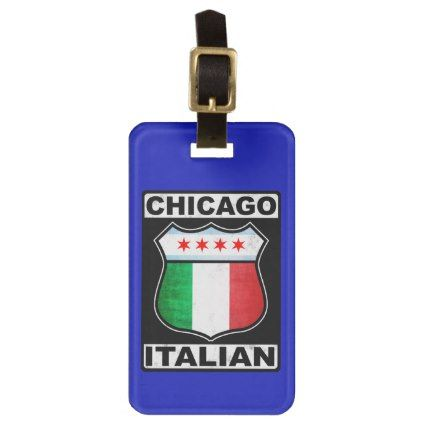 Chicago Italian American Luggage Tag Template  Tag Templates