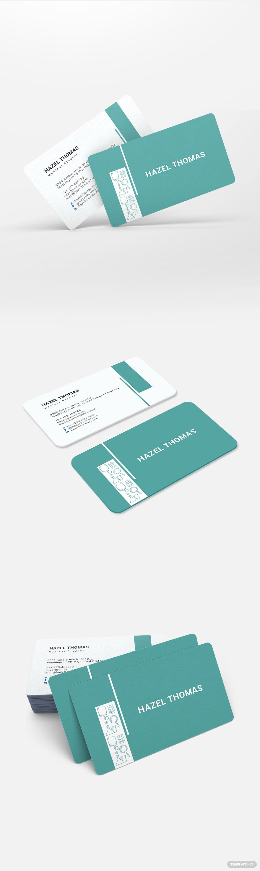 Medical Student Business Card Template Word Doc Psd Apple Mac Pages Illustrator Publisher Student Business Cards Medical Business Card Doctor Business Cards