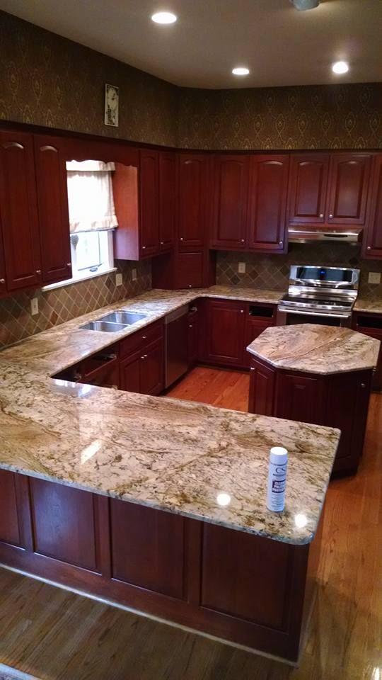 Typhoon Bordeaux Granite kitchen countertop by CSI ... on Typhoon Bordeaux Granite Backsplash Ideas  id=77711