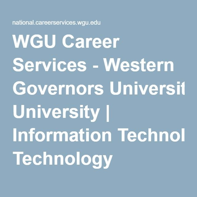 Western Governors University Information Technology Internship Information Technology Technology