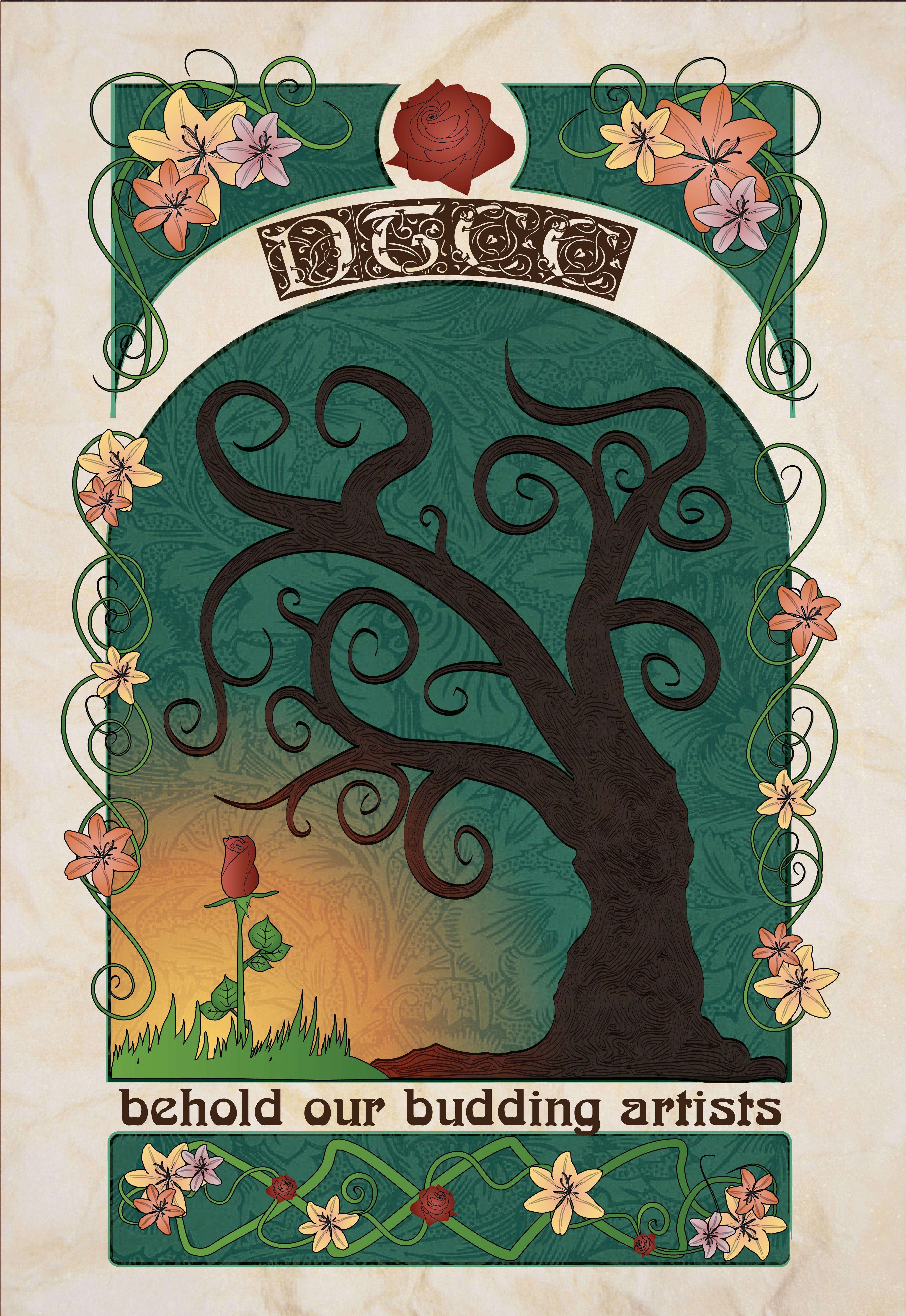 Art Nouveau Graphic Design Great Collection Gla 615 Pattern