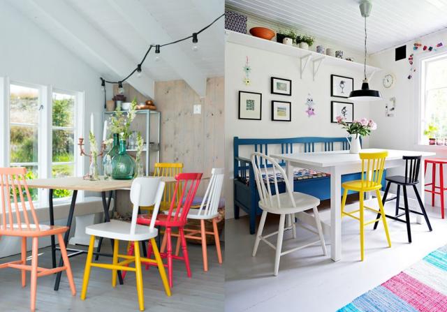 Inspirations Pour Des Chaises Dépareillées Chaises - Table et chaises depareillees pour idees de deco de cuisine