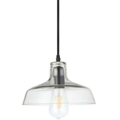 Vonn lighting delphinus 10 in bronze led adjustable hanging industrial pendant with led filament bulb and barn light at the home depot mobile