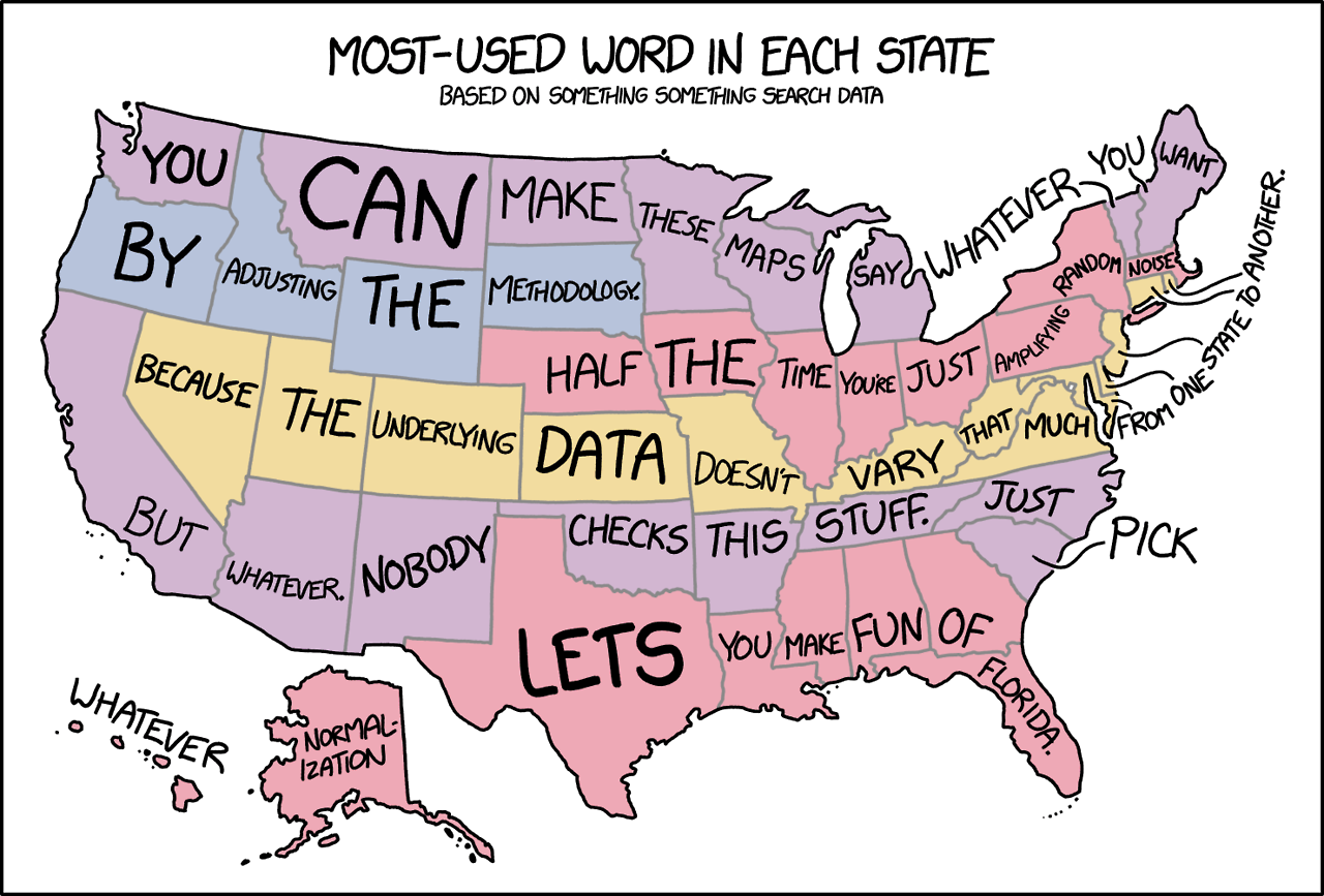 Most Used Word In Each Us State Word Map Funny Maps History Jokes