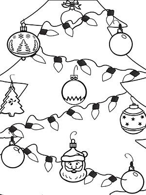 Printable Holiday Coloring Pages Christmas Coloring Pages Christmas Colors Christmas Tree Coloring Page