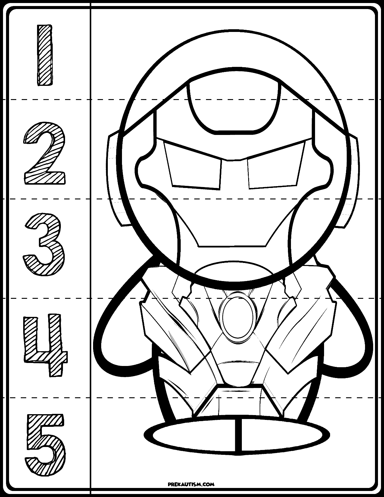 Iron Man 1 5 Counting Puzzle