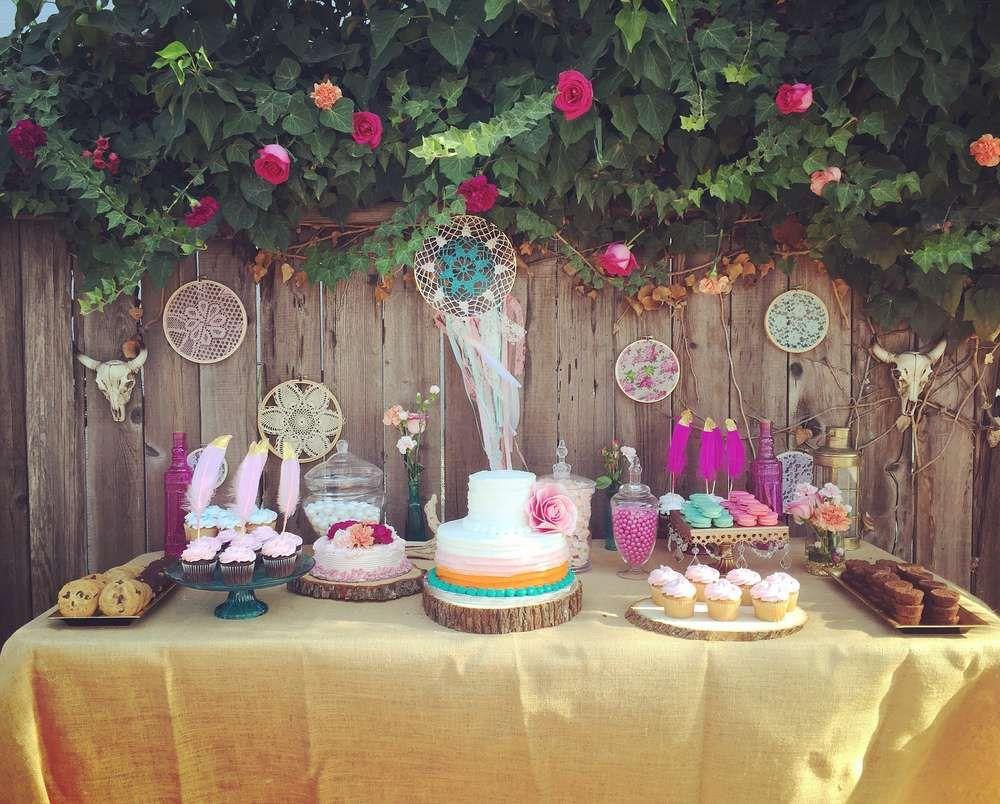 Boho chic birthday party ideas fiestas cumple y bohemio for Decoracion boho chic