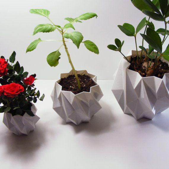Planter Pot Modern Centerpiece Large Geometric Pot Modern