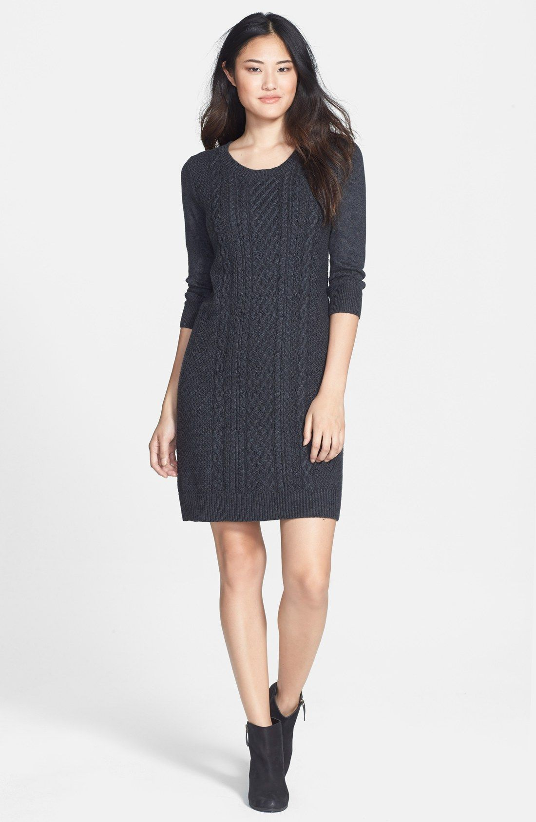 b8966c0d69f  50 - Caslon® Cable Knit Sweater Dress (Regular   Petite)