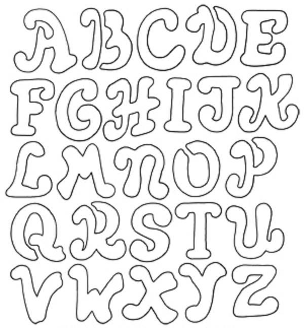 Coloring Pages Alphabet Letter Stencils Color Pages Pinterest - Letter stencil templates
