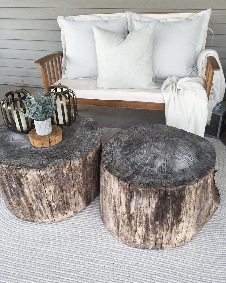 Rustic back porch #rusticporchideas