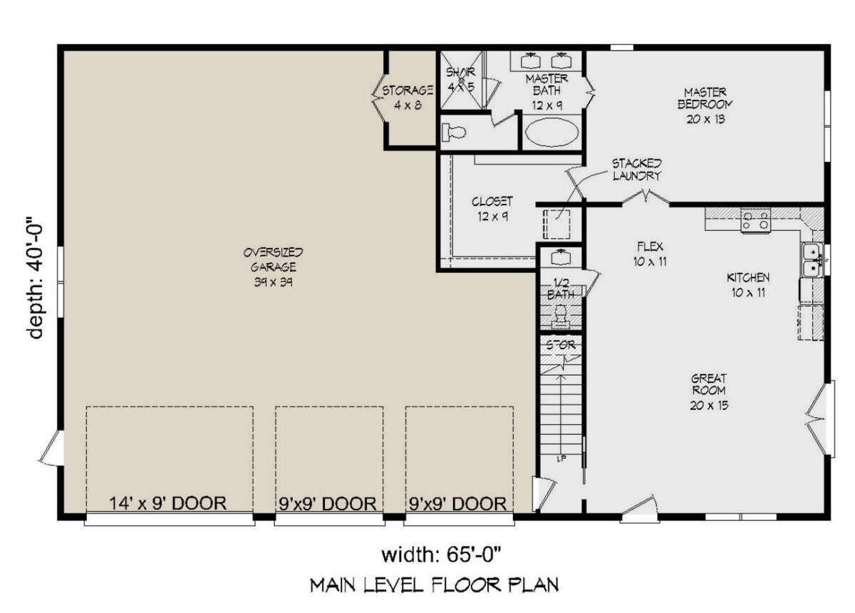 House Plan 940 00287 Cape Cod Plan 1 092 Square Feet 1 Bedroom 1 5 Bathrooms In 2021 Garage Floor Plans Garage House Plans Garage Apartment Plan
